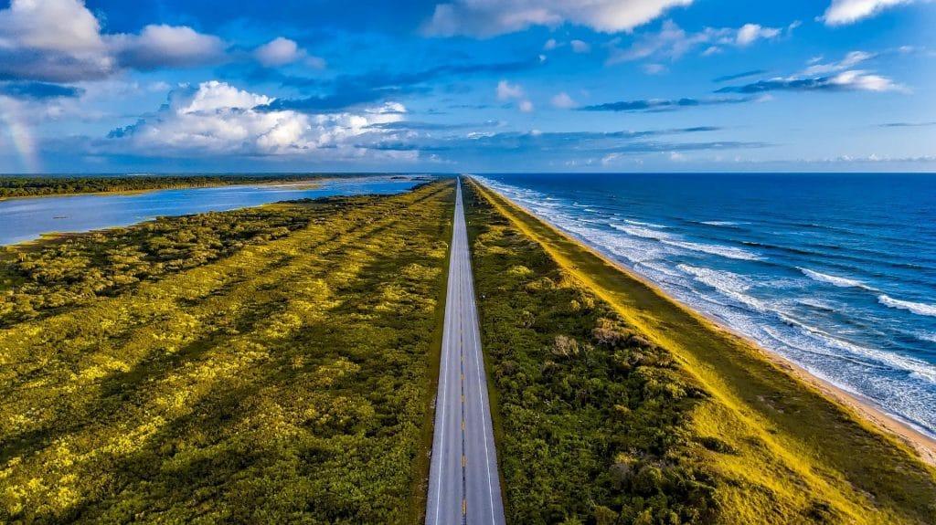 Coastal highway in Florida