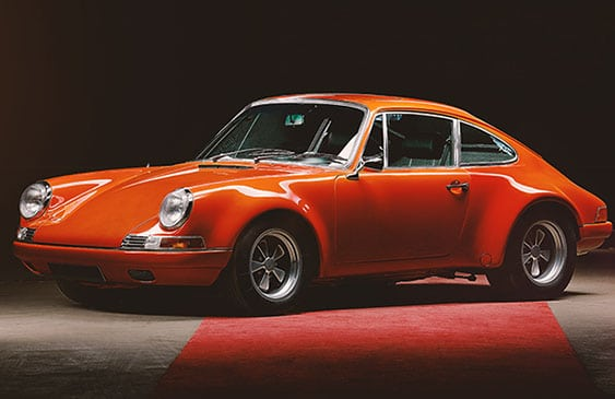 Vintage Porsche 911 coupe