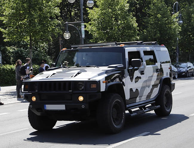 Camouflage SUV