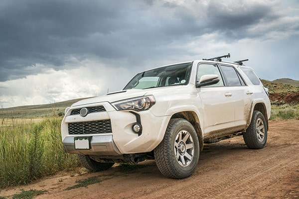 Toyota 4Runner on dirt road